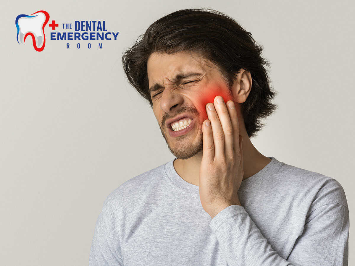 man suffering from severe tooth pain in Clearwater, FL